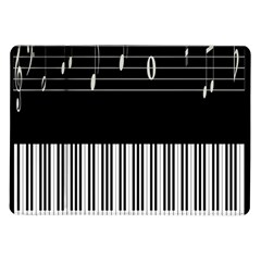 Piano Keyboard With Notes Vector Samsung Galaxy Tab 10.1  P7500 Flip Case
