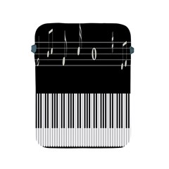 Piano Keyboard With Notes Vector Apple Ipad 2/3/4 Protective Soft Cases