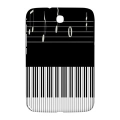 Piano Keyboard With Notes Vector Samsung Galaxy Note 8.0 N5100 Hardshell Case