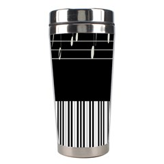 Piano Keyboard With Notes Vector Stainless Steel Travel Tumblers