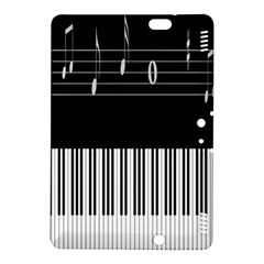 Piano Keyboard With Notes Vector Kindle Fire Hdx 8 9  Hardshell Case