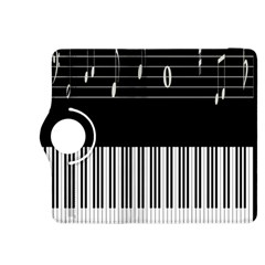 Piano Keyboard With Notes Vector Kindle Fire HDX 8.9  Flip 360 Case