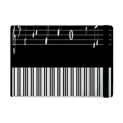 Piano Keyboard With Notes Vector iPad Mini 2 Flip Cases