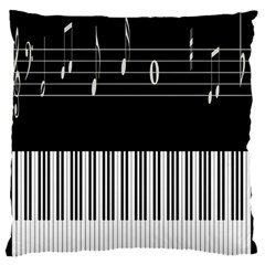 Piano Keyboard With Notes Vector Large Flano Cushion Case (two Sides)