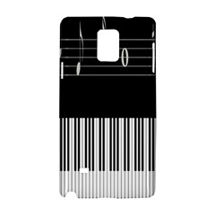 Piano Keyboard With Notes Vector Samsung Galaxy Note 4 Hardshell Case
