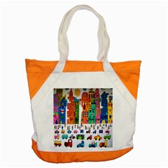 Painted Autos City Skyscrapers Accent Tote Bag