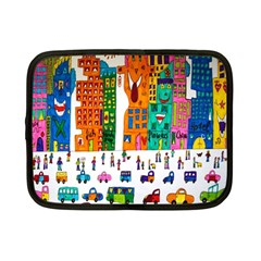 Painted Autos City Skyscrapers Netbook Case (Small)