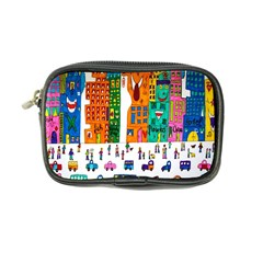 Painted Autos City Skyscrapers Coin Purse