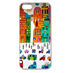 Painted Autos City Skyscrapers Apple Seamless iPhone 5 Case (Clear)