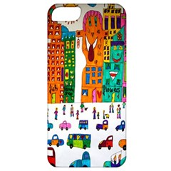 Painted Autos City Skyscrapers Apple iPhone 5 Classic Hardshell Case