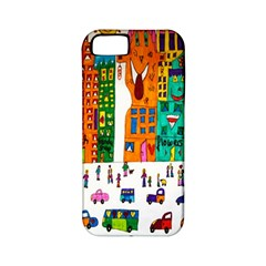 Painted Autos City Skyscrapers Apple iPhone 5 Classic Hardshell Case (PC+Silicone)