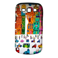 Painted Autos City Skyscrapers Samsung Galaxy S Iii Classic Hardshell Case (pc+silicone)