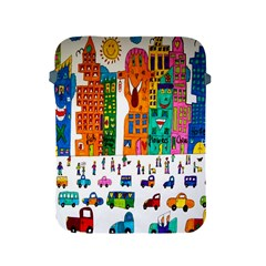 Painted Autos City Skyscrapers Apple iPad 2/3/4 Protective Soft Cases