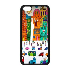 Painted Autos City Skyscrapers Apple iPhone 5C Seamless Case (Black)