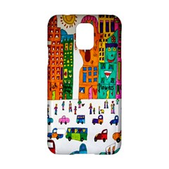 Painted Autos City Skyscrapers Samsung Galaxy S5 Hardshell Case