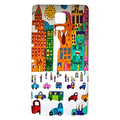 Painted Autos City Skyscrapers Galaxy Note 4 Back Case
