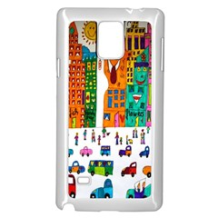 Painted Autos City Skyscrapers Samsung Galaxy Note 4 Case (white)