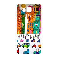 Painted Autos City Skyscrapers Samsung Galaxy Alpha Hardshell Back Case