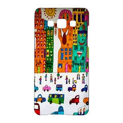 Painted Autos City Skyscrapers Samsung Galaxy A5 Hardshell Case