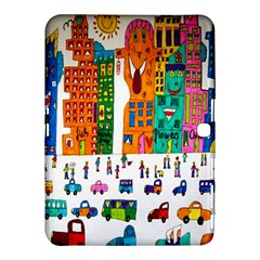 Painted Autos City Skyscrapers Samsung Galaxy Tab 4 (10.1 ) Hardshell Case