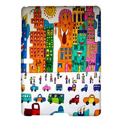 Painted Autos City Skyscrapers Samsung Galaxy Tab S (10.5 ) Hardshell Case