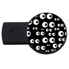 Seamless Eyes Tile Pattern USB Flash Drive Round (4 GB)