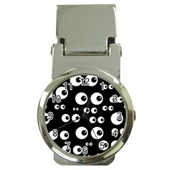 Seamless Eyes Tile Pattern Money Clip Watches