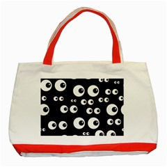 Seamless Eyes Tile Pattern Classic Tote Bag (Red)
