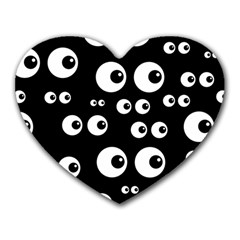 Seamless Eyes Tile Pattern Heart Mousepads