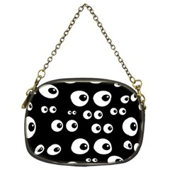 Seamless Eyes Tile Pattern Chain Purses (two Sides)