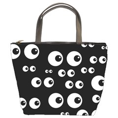 Seamless Eyes Tile Pattern Bucket Bags