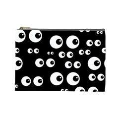 Seamless Eyes Tile Pattern Cosmetic Bag (Large)