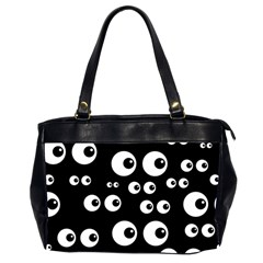 Seamless Eyes Tile Pattern Office Handbags (2 Sides)