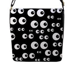 Seamless Eyes Tile Pattern Flap Messenger Bag (l)