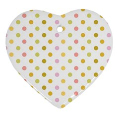 Polka Dots Retro Ornament (Heart)