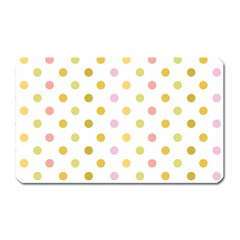 Polka Dots Retro Magnet (Rectangular)
