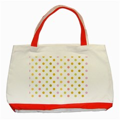 Polka Dots Retro Classic Tote Bag (Red)
