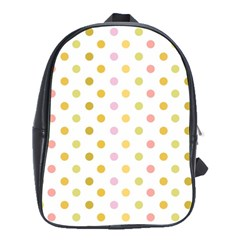 Polka Dots Retro School Bags(Large)
