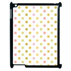 Polka Dots Retro Apple iPad 2 Case (Black)