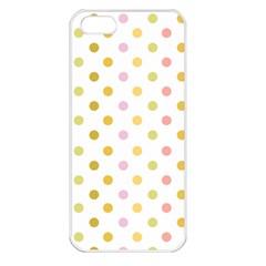 Polka Dots Retro Apple iPhone 5 Seamless Case (White)