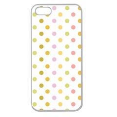 Polka Dots Retro Apple Seamless iPhone 5 Case (Clear)