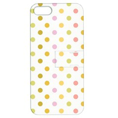 Polka Dots Retro Apple iPhone 5 Hardshell Case with Stand