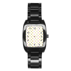 Polka Dots Retro Stainless Steel Barrel Watch