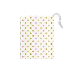 Polka Dots Retro Drawstring Pouches (Small)