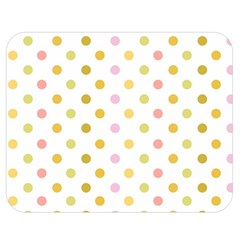 Polka Dots Retro Double Sided Flano Blanket (Medium)