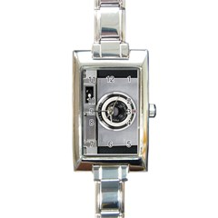 Vintage Camera Rectangle Italian Charm Watch