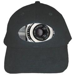 Vintage Camera Black Cap