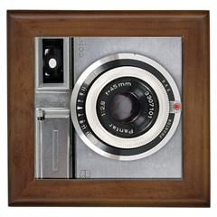 Vintage Camera Framed Tiles