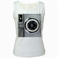 Vintage Camera Women s White Tank Top