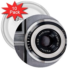 Vintage Camera 3  Buttons (10 pack)